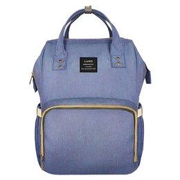 80f6b8ab6f21a LAND Baby Tasche Mode Wickeltaschen Große Wickeltasche Rucksack Baby  Organizer Mutterschaft Taschen Für Mutter Handtasche Windel Rucksack