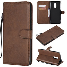 China Wallet Case For LG Stylo 4 Q Stylus Flip back Cover Pure Color PU Leather Mobile Phone Bags Coque Fundas cheap mobile q suppliers