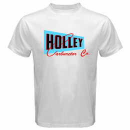 $enCountryForm.capitalKeyWord NZ - Fashion Funny Tops Tees New Holley Carburetor Co. Logo Speed Equipment Hot Rod White T-Shirt Size S-3XL