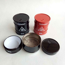$enCountryForm.capitalKeyWord Canada - Newest Oil Drum Shaped Grinder 44mm Height 3 Layers Herb Hand Cigarette Tobacco Crusher Abrader For Smoking Tools rolling machine vaporizer