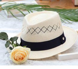 Fallen Hats Australia - 2018 new fashion Casual woman spring summer fall Korean hats for a trip sunshade hat beach Ivory Solid Flat