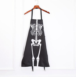 Funny Party Decorations Australia - Bar Club Halloween Party Waiters Skeleton Frame Aprons Decoration Home Funny Skeleton Apron Props Festive Party Supplies