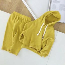 2018 ropa para bebés nuevos bebés bebé otoño manga larga traje femenino 1-2-3 años de edad niños con capucha suéter de dos piezas de moda casual