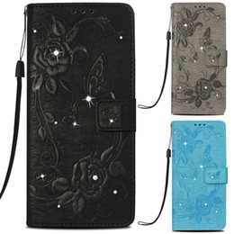 Lg diamond waLLet online shopping - Diamond Glitter Rose Wallet Cases for iPhone X XR XS Max Plus with Card Pocket PU Leather Flip Cover Case