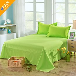 $enCountryForm.capitalKeyWord NZ - High Quality Cotton 1 Piece Bed Sheet Solid Color Flat Sheet High-grade Bedsheet Thirteen Colors Bedclothes Free Shipping