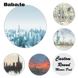 $enCountryForm.capitalKeyWord Canada - Babaite Your Own Mats City Silicone Pad to Mouse Game Size for 20x20cm 22x22cm Rubber Round Mousemats