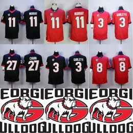 589cb7bdb UGA Georgia Bulldogs 3 Todd Gurley II 11 Jake Fromm 27 Nick Chubb 11 Aaron  Murray College Double Stiched Football Jersey IN STOCK