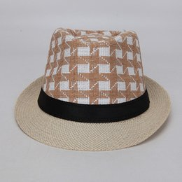 89ad98b7073 wholesale men women lattice panama fishing straw hats fedora stingy brim hat  soft vogue for unisex summer outdoor casual sun beach hat