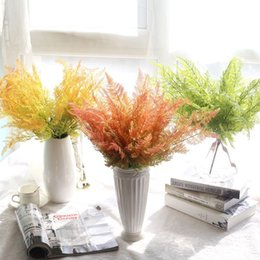 Artificial Plants Trees NZ - 43cm artificial Fern tree,Table Centerpieces arrangement,real touch plant,with round crystal beads