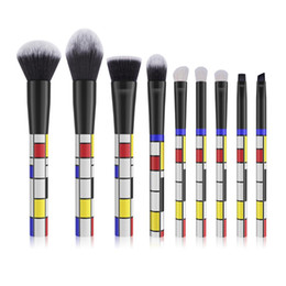 $enCountryForm.capitalKeyWord Australia - Wholesale 9pcs Custom Makeup Brush Set and Best Promotion Taklon Makeup Brush Kit