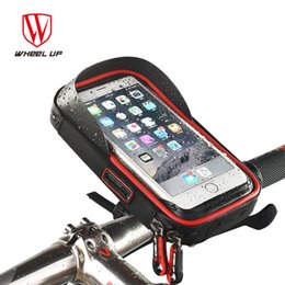 up wheels 2019 - WHEEL UP New Design Cycling Phone Bag Rainproof Bike Cellphone Support Holder Bicycle Front Frame Bag Equipment cheap up