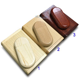 $enCountryForm.capitalKeyWord Canada - Bulk 10PCS 1GB 2GB 4GB 8GB 16GB Clamshell Wooden Case USB Drive Best Promotion Gifts Memory Flash Pendrives True Storage