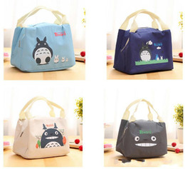 kids books characters Australia - Discount New Portable Cartoon Cute Lunch Bag Insulated Cold Canvas Picnic Totes Carry Case Book Bags For Kids Women Thermal Bag