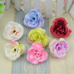 $enCountryForm.capitalKeyWord Australia - Mini Artificial Flowers Silk Roses Heads for Wedding Decoration Party Fake Scrapbooking Floral Wreath Home Accessories 10pcs  Lot
