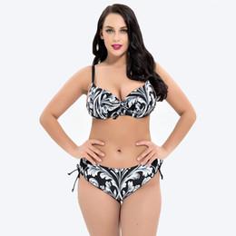 0799585f092 2018 plus size print color women two piece swimsuit bikini backless sport  swimwear Monokini swimming bathing suit beachwear yq1933