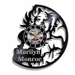 Großhandel Marilyn Monroe Vinyl Clock Die besten Geschenke für Sie oder Ihn (Größe: 12 Zoll Farbe: Schwarz)