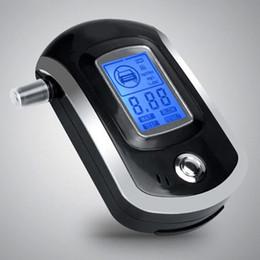 Venta al por mayor de HotAT6000 Digital Breath Alcohol Tester Analizador de alcoholímetro LCD con 5 boquillas Alta sensibilidad Profesional Respuesta rápida