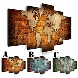 Painting words walls online shopping painting words walls for sale no frame wall art picture printed canvas oil painting 5pcs set home decor extra mirror border abstract map word gumiabroncs Image collections