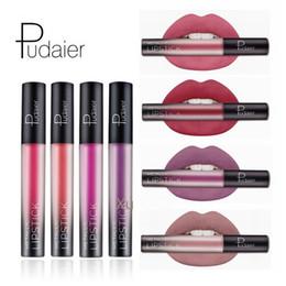Discount dark purple black lipstick - Pudaier Brand Pigment Mae Liquid Lipstick Lasting Lip Gloss Red Velvet Mae Nude Liquid Lipsticks Cosmetic Lips Batom Mae