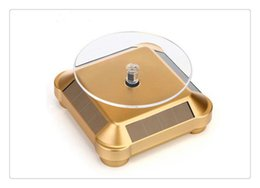$enCountryForm.capitalKeyWord Canada - Hot 10mm Gold Plated Silver Black Solar Power 360 Rotating Display Stand Turn Table Plate For Ring Necklace Bracelet Jewelry