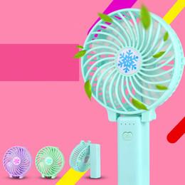 Ingrosso Mini ventilatore portatile con luce LED, GoTravel2 Ventilatore personale pieghevole USB ricaricabile, ventola di raffreddamento portatile leggera, De elettrico
