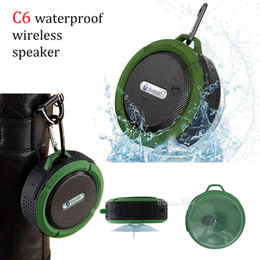music speaker sd card Canada - Portable mini wireless bluetooth ipx5 stereo hangable sports speaker mini shower subwoofer with mic supply SD card MP3 music player