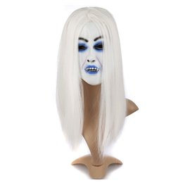 $enCountryForm.capitalKeyWord UK - White Hair Devil Ghost Mask Scary for Masquerade Party Halloween Mask Cosplay Fancy Horror Prop Toys For Party