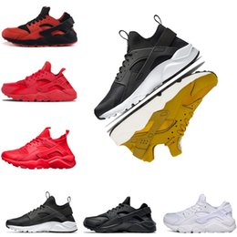 China Hot sale Huarache 4.0 1.0 running shoes Triple White Black red yellow gray mens and women designer Shoes sports Sneakers size US 5.5-11 supplier white black gray huarache shoes suppliers