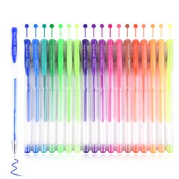 $enCountryForm.capitalKeyWord NZ - 200Gel Colored Pen Set 100Pens With 100Refills For Adult Coloring Books Glitter Neon Metallic Art Drawing Pen Marker Gift