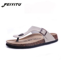 ef27476ff2fc Feiyitu Men Slippers Flip Flops Summer Beach Cork Shoes Slides Male Flats  Sandals Casual Shoes Mixed Colors EU Size 35-45