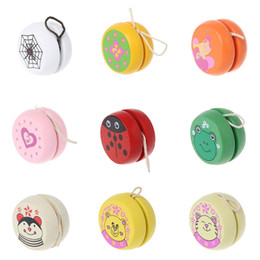 $enCountryForm.capitalKeyWord Australia - Cute Animal Prints Wooden Yoyo Toys Easy Educational Toys Classic Toy