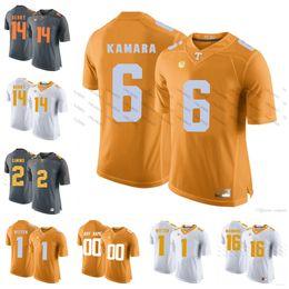 Custom NCAA Tennessee Volunteers College Football  6 Alvin Kamara 16 Peyton  Manning 1 Jason Witten 14 Eric Berry Orange Gray White Jerseys d416dfa49