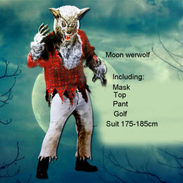 2018 Adulti Costumi di Halloween per uomo e donna Horror Cosplay Vestiti divertenti Blood Werewolf School Students Zombie Horror Costume