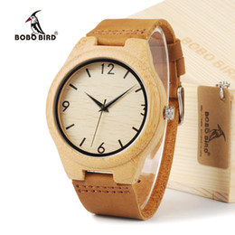 le mobile NZ - atch mobile phone 2012 BOBO BIRD Fashion Loves' Brand Designer Bamboo Wooden Watches Japanese 2035 Movement Analog Quartz Watches With Le...