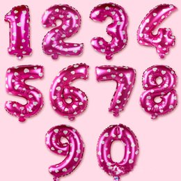 $enCountryForm.capitalKeyWord NZ - New 30 Inch Helium Air Balloon Number Letter Shaped Pink Heart Printed Ballons Birthday Wedding Decoration Event Party Supplies