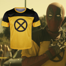 Movie Tees Canada - 2018 Movie Deadpool 2 T Shirt Costume Cosplay Wade Winston Wilson Short Tee Halloween T-Shirt New