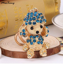 wholesale dog lover gifts NZ - New Lucky Smile Dog Crystal Rhinestone Keyrings Key Chains Holder Purse Bag For Car christmas Gift Keychains Jewelry llaveros