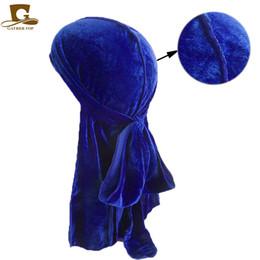 China New fashion Men's Velvet Durags Bandana Turban Hat Wigs Doo Men Durag Biker Headwear Headband Pirate Hat Du-RAG Hair Accessories supplier headband hair men suppliers