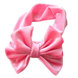 free baby wraps Australia - free ship New Fashion 8 colors Big bowknot Headband baby girl headbands Bow hair band children kid Cotton turban Head Wrap Hair Accessories