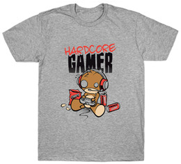 Tee Designs NZ - Hardcore Gamer T Shirt Playstation Xbox Computer Game Birthday Present Gift Tees Shirt For Men Best Design Short Sleeve Crewneck Cotton Big