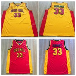 2f125d11b Men Stitched 33 Kevin Durant Jersey College Oak Hill Basketball Jerseys  High School For Sport Fans Breathable Embroidery College Shirt