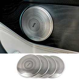 4 pcs Chrome Porta Orador Tampa Guarnição para Mercedes Benz Classe C E W205 W213 GLC200 2015-2018 Acessório Do Carro