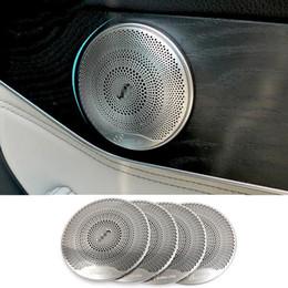 4 stücke Chrome Tür Lautsprecherabdeckung Trim für Mercedes Benz C E-klasse W205 W213 GLC200 2015-2018 Auto Zubehör