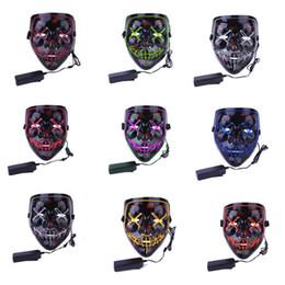 $enCountryForm.capitalKeyWord Australia - Halloween Cocktail Selfie Mask X Face Horror Grimace Glow Mask Prom Decoration Props Celebrations Halloween Theme Party