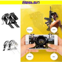 Bestsin Titanium Alloy elimina las reglas de supervivencia Juego móvil Botón de disparo Apuntar Teléfono inteligente Juego móvil Disparador PUBG Juego en venta