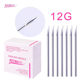 Disposable Body Piercing Tools NZ - 100pcs lot Sterile Disposable Medical Grade Body Piercing Needle 12G for Tool Kit Ear Nose Navel