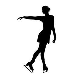 Dancing material online shopping - Modern figure skating dance decorative car laptop refrigerator sticker CA