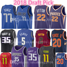 200578704 22 DeAndre Ayton 77 Luka Doncic 11 Trae Young 2 Collin Sexton 5 Mohamed  Bamba 35 Marvin Bagley III Jersey Magic Kings Hawks Mavericks Suns