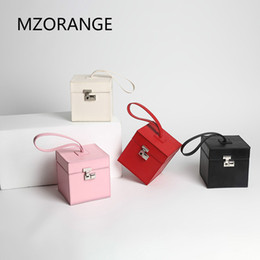 box handbags NZ - NEW Vintage Style 2018 Genuine Cowhide Leather Lady Handbags Small Flap Box bag unique design Women's bags of Brands mini Tote