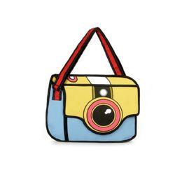 PaPer shoulders online shopping - New fashion D Drawing Cartoon Paper Bag Comic Paper Backpack Women Shoulder Bag cute Unisex Knapsack Fashion comic Novelty Student Bags